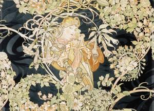 Print: Femme à marguerite  by Alphonse Mucha