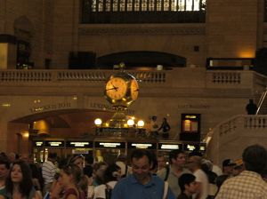 Every time I am in Grand Central Station, I am touched by the little stories, the comings and goings, right there in that moment inside the hurry to get someplace else.  Photo: