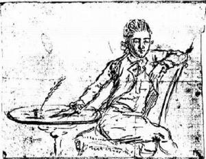 A self portrait of John Andre, 1780