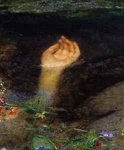 Close up of the painting Ophelia Artist: John Everette Millais Source: http://daydreamtourist.com/2013/06/03/ophelia/