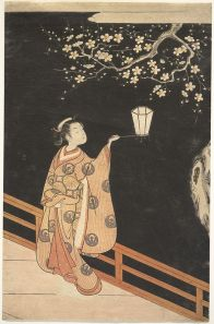 Suzuki_Harunobu_-_Woman_Admiring_Plum_Blossoms_at_Night